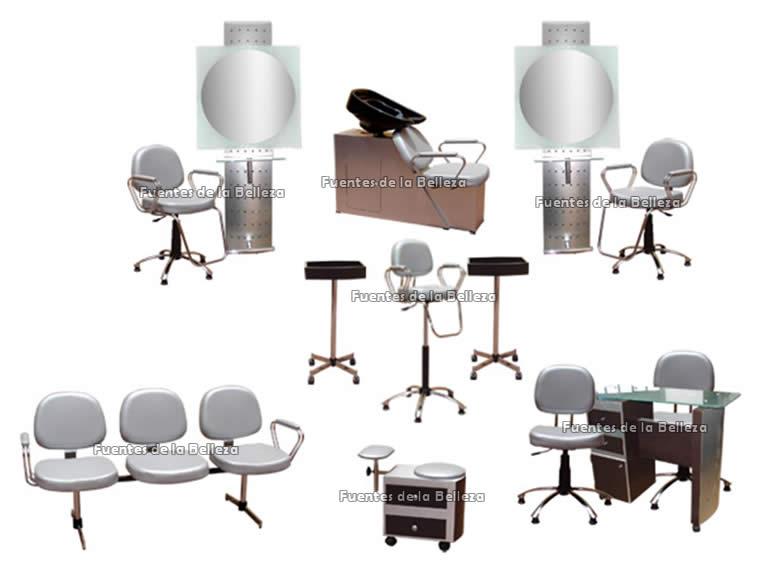 Equipos y paquetes completos de muebles para esteticas y for Salones completos modernos precios