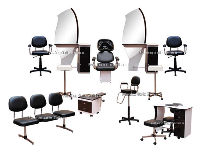 Equipos y paquetes completos de muebles para esteticas y for Precios de salones completos