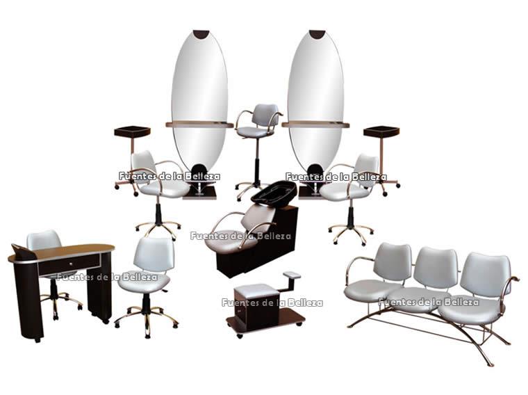 Equipos y paquetes completos de muebles para esteticas y for Muebles de salon completos